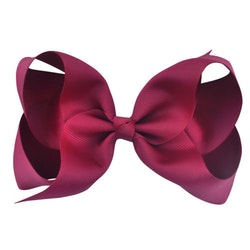 Hårklämma - Fancy Bow Burgundy