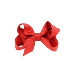 Hårklämma - Mini Bow Red Rose