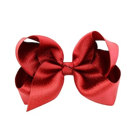 Hårklämma - Fancy Bow Ruby Red