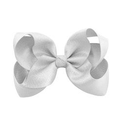 Hårklämma - Fancy Bow Silver