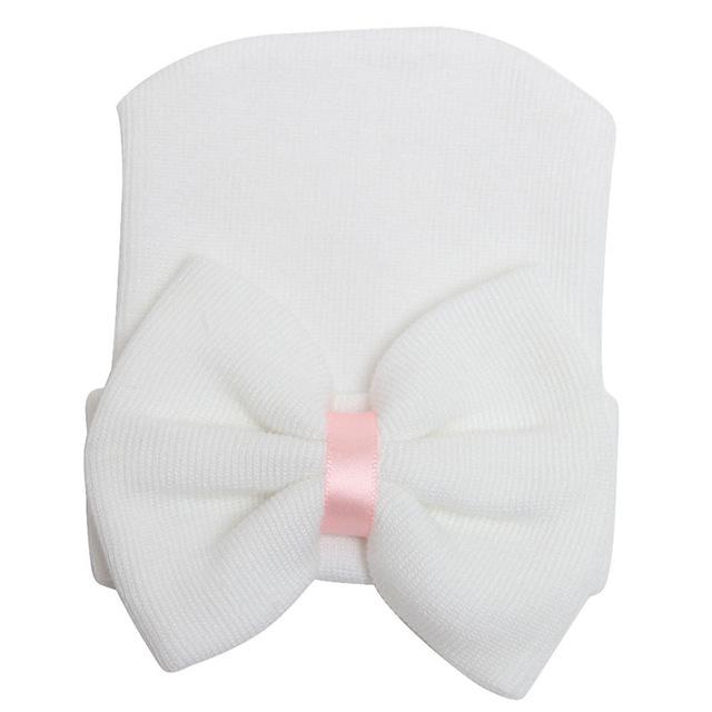 Nyfödd mössa - Newborn Bow White
