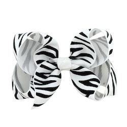 Hårklämma - Fancy Bow White Tiger