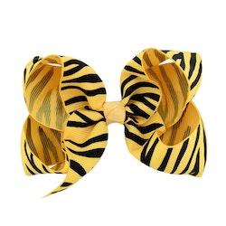 Hårklämma - Fancy Bow Yellow Tiger