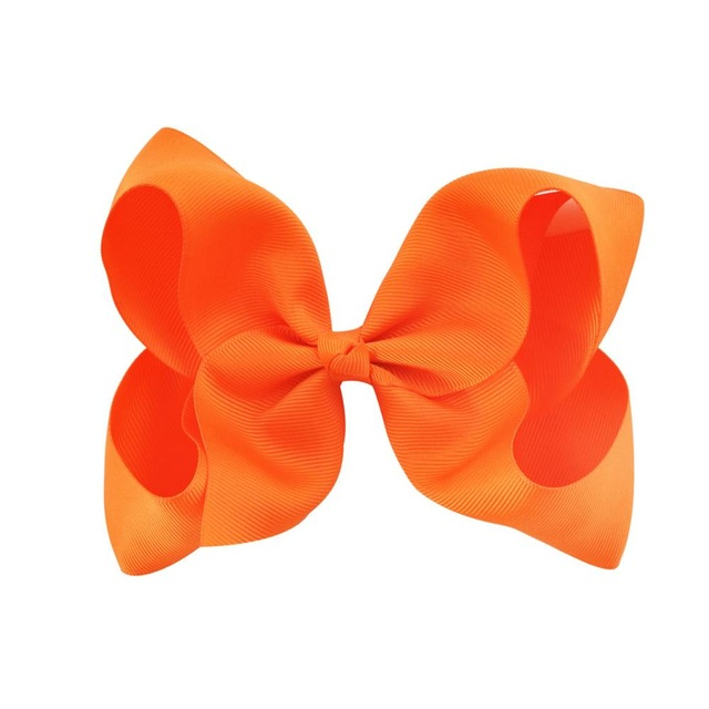 Hårklämma - Fancy Bow Orange