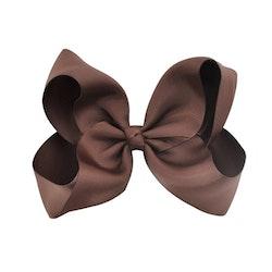 Hårklämma - Fancy Bow Brown