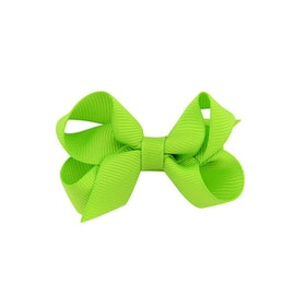 Hårklämma - Mini Bow Green