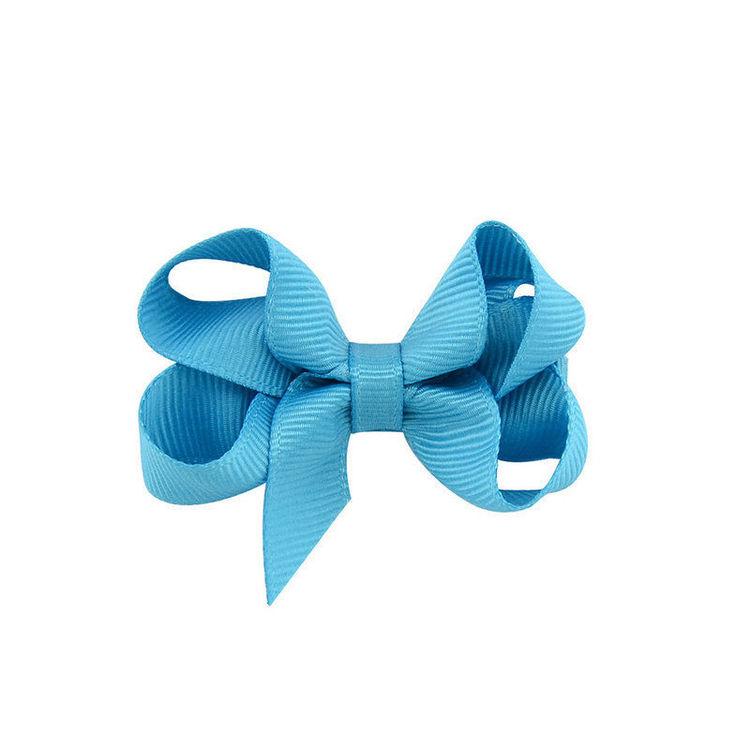 Hårklämma - Mini Bow Aqua