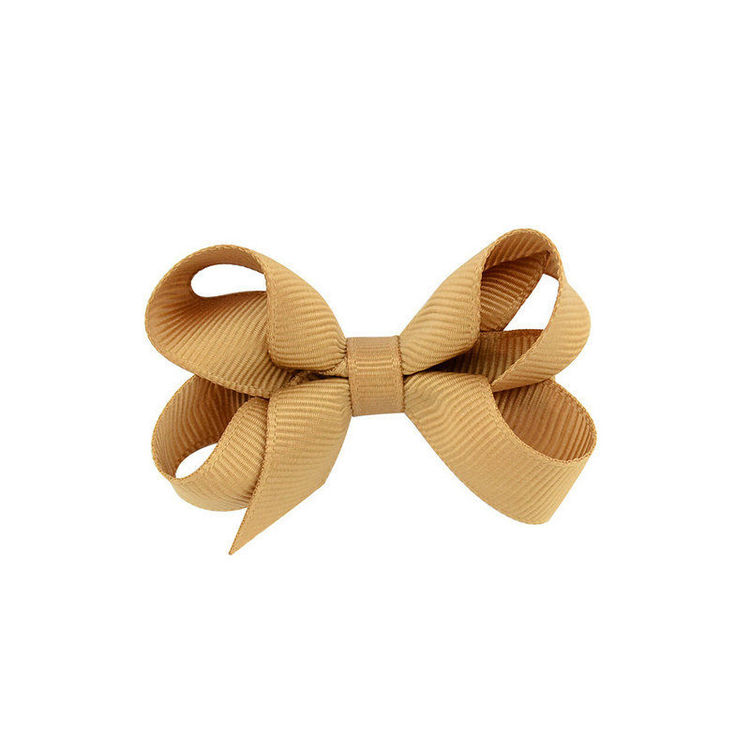 Hårklämma - Mini Bow Tan
