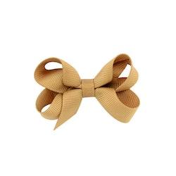 Hårklämma - Mini Bow Tan