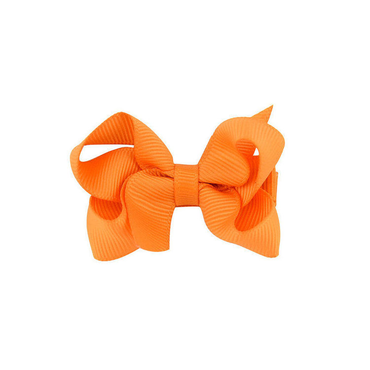 Hårklämma - Mini Bow Orange