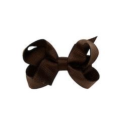 Hårklämma - Mini Bow Brown