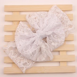 Hårband - Mimmi Bow Lace Snow White