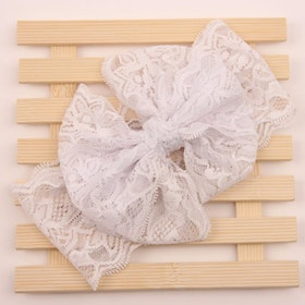 Hårband - Mimmi Bow Lace Ivory