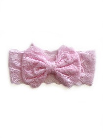 Hårband - Mimmi Bow Lace Baby Pink