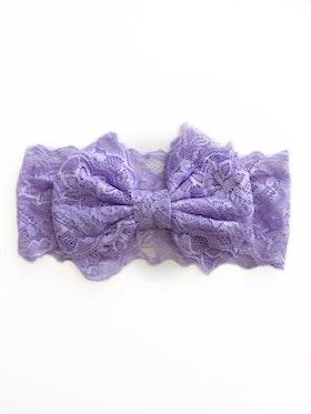 Hårband - Mimmi Bow Lace Lavendel