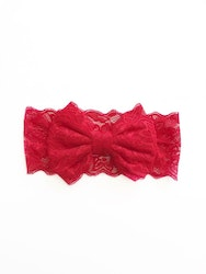 Hårband - Mimmi Bow Lace Red Rose