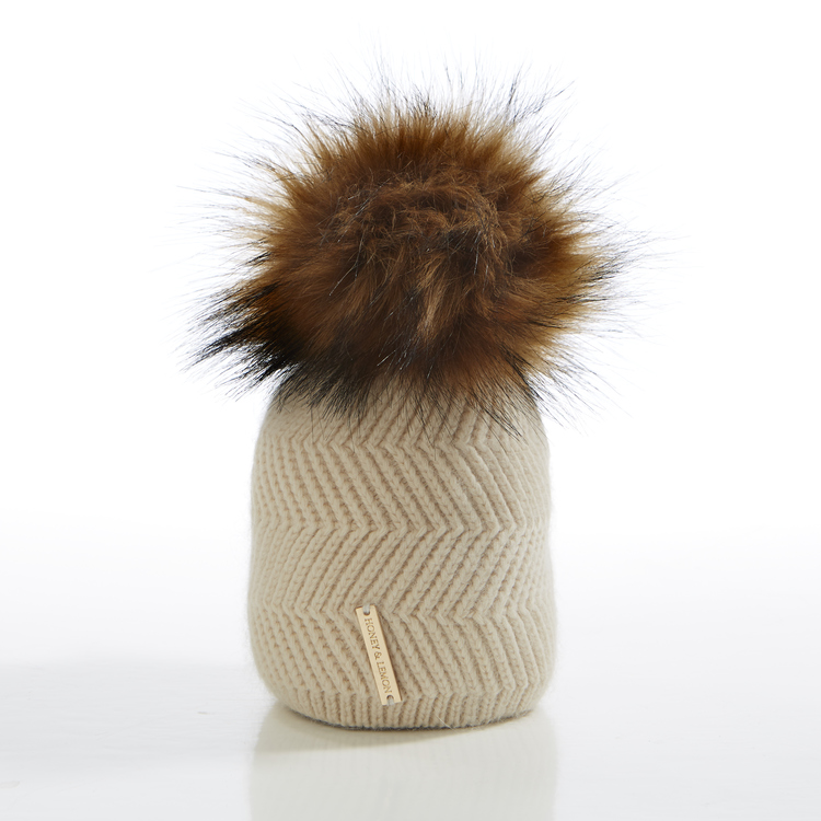 Nyfödd mössa -  Cloudy Single Pompom (0-6m)
