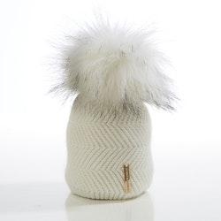 Newborn beanie -  Cloudy Single Pompom (0-6m/o)