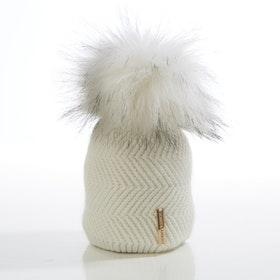 Nyfödd mössa -  Cloudy Single Pompom (0-6m)