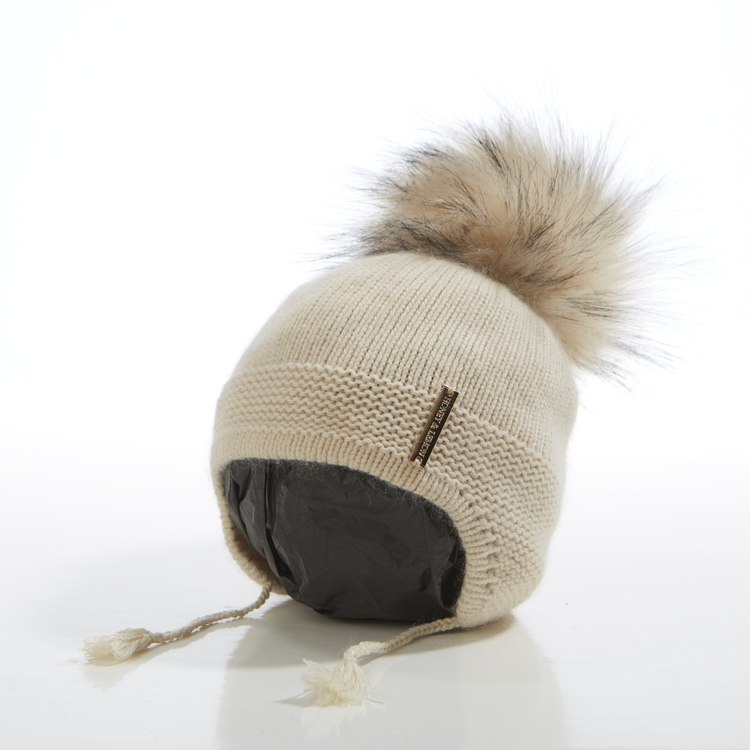 Babymössa -  Bunny Single Pompom (3-18m)