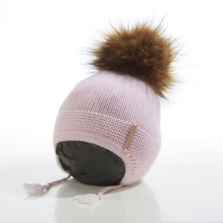 Babymössa -  Bunny Single Pompom (3-18m)