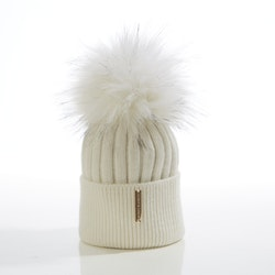 Baby beanie -  Honey Single Pompom (3-18m)