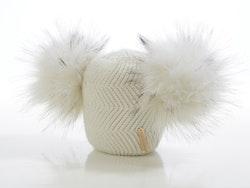 Newborn benie -  Cloudy Dubble Pompom (0-6m/o)