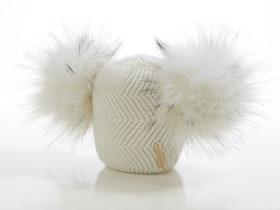 Nyfödd mössa -  Cloudy Dubble Pompom (0-6m)