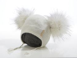 Babybeanie - Bunny Dubble Pompom (3-18m/o)