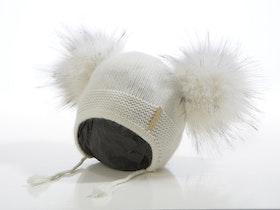 Babymössa -  Bunny Dubble Pompom (3-18m)