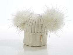 Baby beanie -  Honey Double Pompom (3-18m)