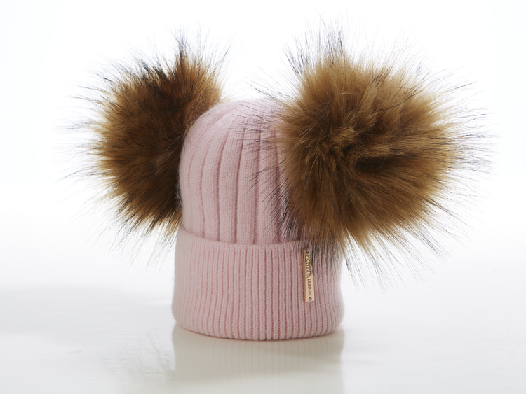 Babymössa -  Honey Double Pompom (3-18m)