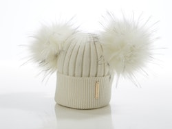 Kids beanie -  Honey Double Pompom (1½-7y)