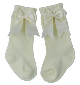 Knee sock - Elsa Bow Ivory