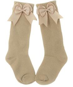 Knee Sock - Elsa Bow Camel