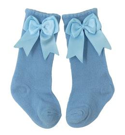 Knästrumpa - Elsa Bow  Baby Blue