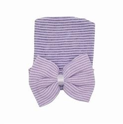 Nyfödd mössa - Newborn Bow Lavendel