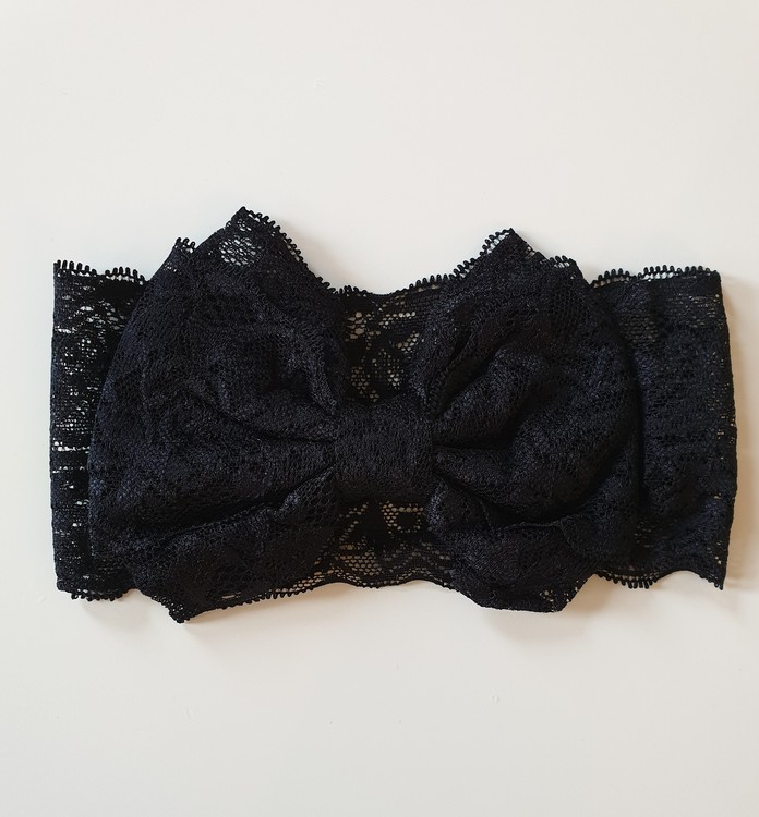 Hårband - Mimmi Bow Lace Black
