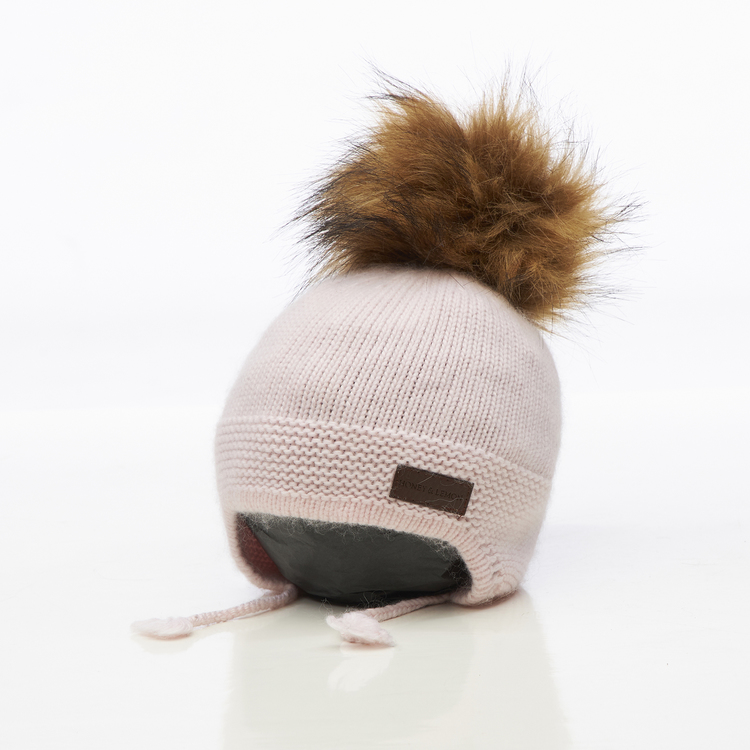 Barnmössa -  Bunny Single Pompom (1½-5y)
