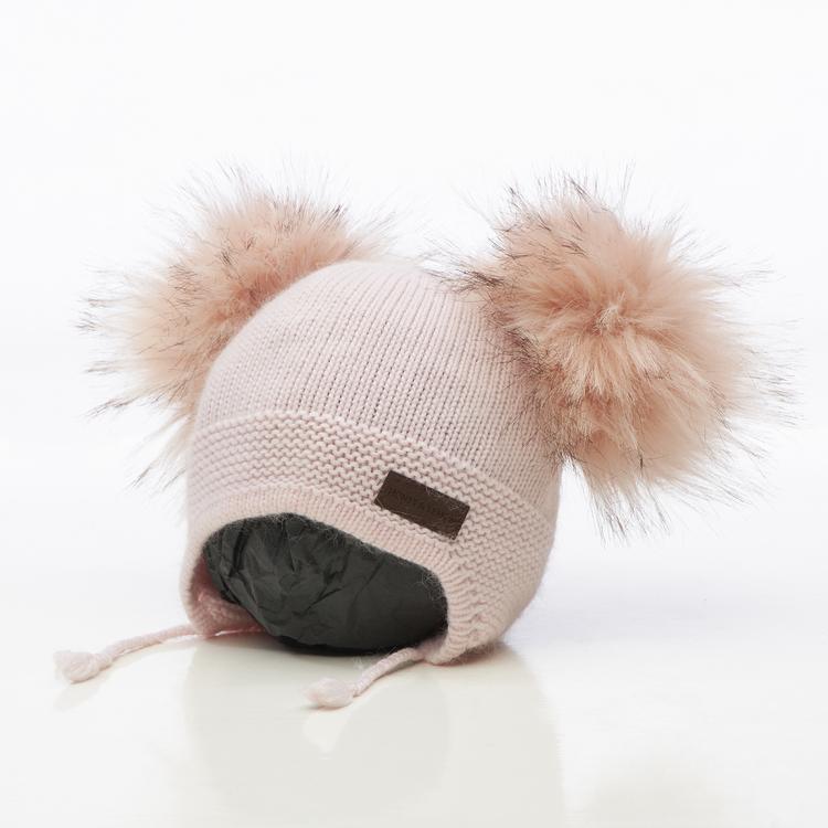 Barnmössa -  Bunny Dubble Pompom (1½-5y)