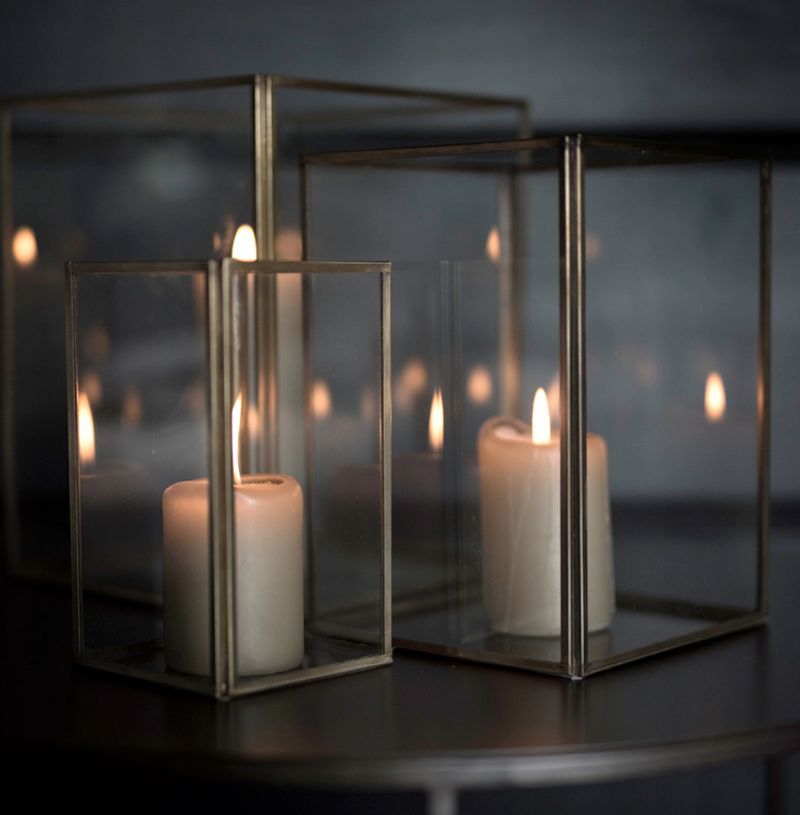 LAUSANNE lantern 3-set, Artwood