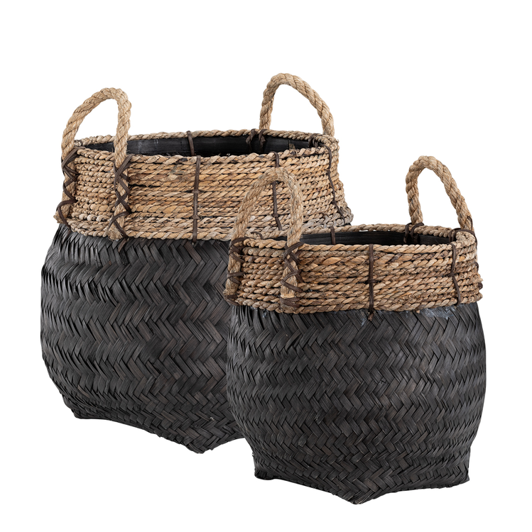 DAVAO 2-set Round basket, Artwood