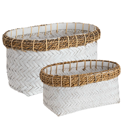 DAVAO 2-set Rectangular basket, Artwood