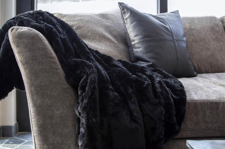 CELINE Solid Black Pläd, Artwood