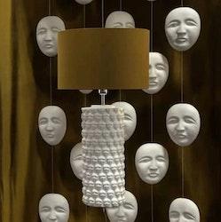 Hallbergs - Lampfot Faces vit