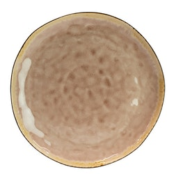 Olsson & Jensen - middagstallrik krackelerad rosa