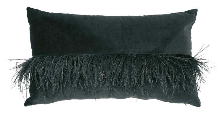 Cozy Living - Kudde med fjädrar  svart