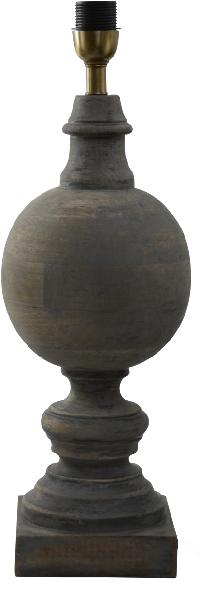 Hallbergs - Lampfot Percy i trä
