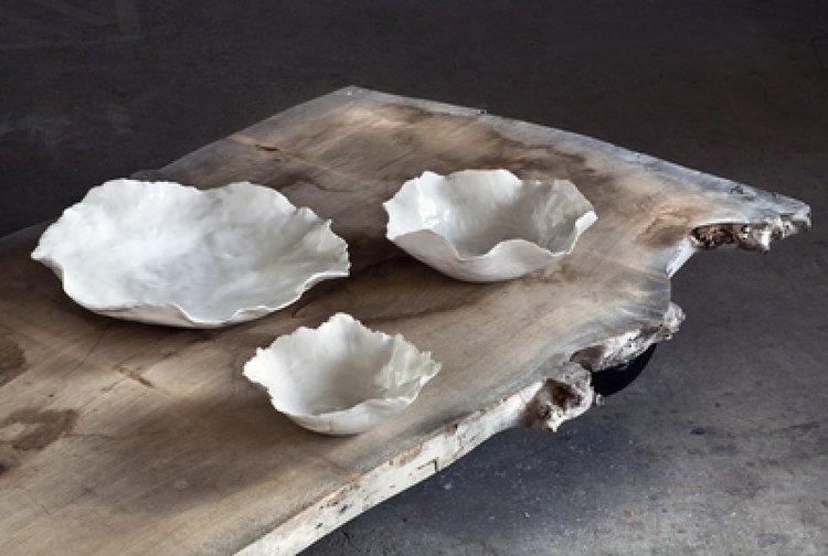 Olsson & Jensen - Vitt fat i keramik L