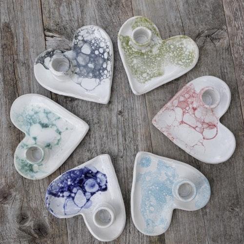 Hjärtljusstake - bubblor